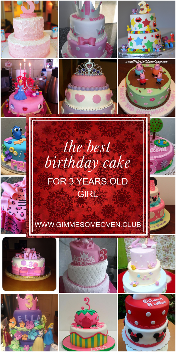 Brilliant The Best Birthday Cake For 3 Years Old Girl Best Round Up Recipe Funny Birthday Cards Online Overcheapnameinfo